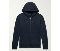 Logo-Embroidered Cotton-Jersey Zip-Up Hoodie