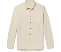 New York Special Pinstriped Brushed-Cotton Shirt