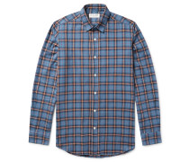 Slim-fit Checked Brushed-cotton Flannel Shirt
