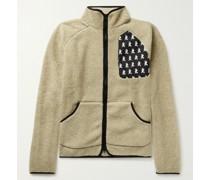 Greg Shell-Trimmed Fleece Jacket