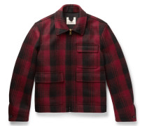 Checked Wool-flannel Jacket