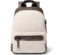 Shearling And Leather Backpack