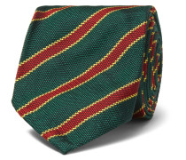 7.5cm Striped Silk Tie