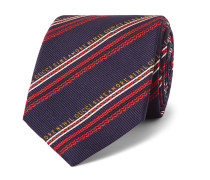 7.5cm Striped Silk and Wool-Blend Jacquard Tie