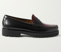 Weejun 90s Smooth and Croc-Effect Leather Penny Loafers