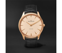 Master Ultra Thin 41mm Pink Gold And Alligator Watch