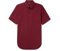 Brad Slim-fit Button-down Collar Stretch-cotton Poplin Shirt