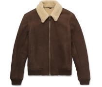 Rowan Shearling-lined Suede Bomber Jacket