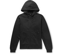 Logo-Print Loopback Cotton-Jersey Zip-Up Hoodie