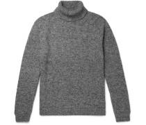Asher Mélange Camel Hair-Blend Rollneck Sweater