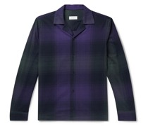 Marco Camp-Collar Checked Cotton-Flannel Shirt