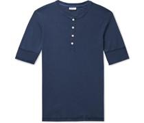 Karl Heinz Slim-Fit Cotton-Jersey Henley T-Shirt
