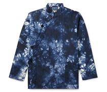 Kagozome Crinkled Indigo-Dyed Nylon Jacket