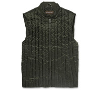 Quilted Water-repellent Shell Down Gilet