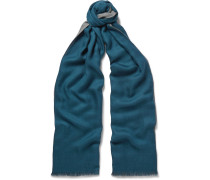 Cavalry Two-tone Cashmere And Silk-blend Scarf