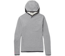 Nikelab Acg Mesh-trimmed Stretch-cotton Jersey Hoodie