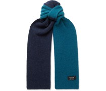 Laser Attack Two-Tone Wool Scarf