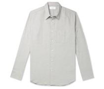 Mélange Cotton, Linen and Wool-Blend Flannel Shirt