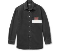 Appliquéd Denim Shirt