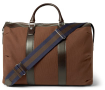 Kempton Leather-trimmed Canvas Holdall