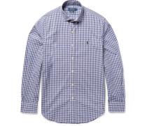 Slim-fit Gingham Cotton-poplin Shirt