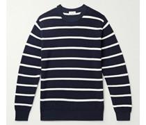 Striped Ribbed Virgin Wool Sweater