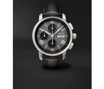Star Legacy Automatic Chronograph 43mm Stainless Steel and Alligator Watch, Ref. No. 126081