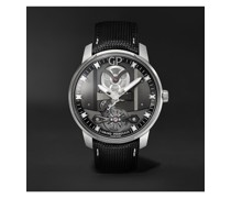 Free Bridge Hand-Wound 44mm Stainless Steel and Leather Watch, Ref. No. 82000-11-631-FA6A