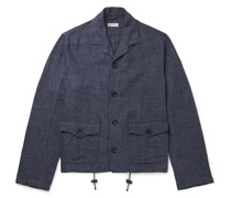Mélange Linen and Cotton-Blend Shirt Jacket