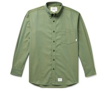 Button-Down Collar Logo-Appliquéd Twill Shirt