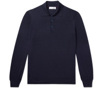Virgin Wool and Cashmere-Blend Polo Shirt