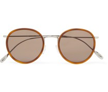+ Cutler and Gross Round-Frame Acetate and Silver-Tone Sunglasses