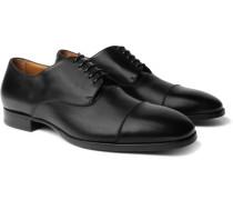 Traveler Cap-toe Leather Derby Shoes