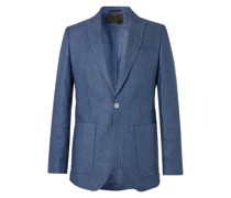 Woodcroft Newport Slim-Fit Unstructured Linen-Twill Suit Jacket
