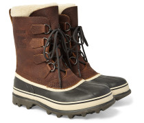 Caribou Waterproof Full-grain Leather And Rubber Snow Boots