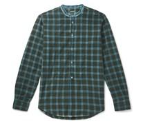 Kos Checked Cotton-Twill Half-Placket Shirt