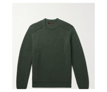 Ribbed Mélange Cashmere Sweater