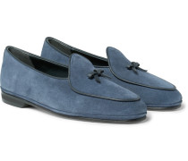 Marphy Leather-trimmed Suede Loafers