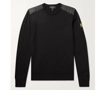 Kerrigan Slim-Fit Quilted Shell-Trimmed Merino Wool Sweater