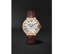 Ballon Bleu de Cartier Automatic 40mm 18-Karat Pink Gold and Alligator Watch, Ref. No. WGBB0035