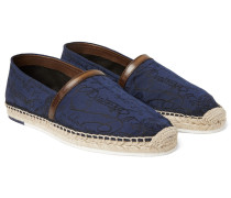 Agustin Leather-trimmed Jacquard Espadrilles