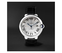 Ballon Bleu Automatic 42mm Stainless Steel and Alligator Watch, Ref. No. CRW69016Z4
