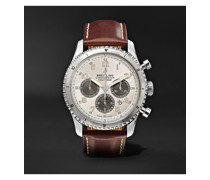 Navitimer 8 B01 Automatic Chronograph 43mm Stainless Steel and Leather Watch, Ref. No. AB01171A1G1P1