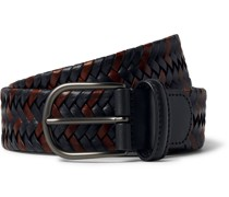 3.5cm Woven Leather Belt