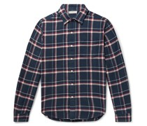 Checked Cotton-Flannel Shirt