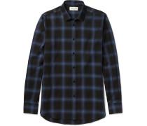 Slim-fit Checked Cotton-blend Shirt