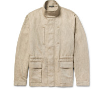 Cotton And Linen-blend Utility Jacket