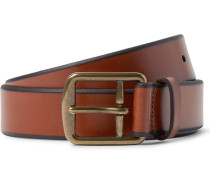 3.5cm Brown Leather Belt