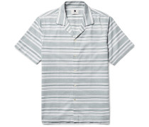 Miyagi Camp-collar Striped Cotton Shirt