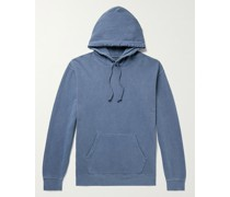 Pigment-Dyed Loopback Cotton-Jersey Hoodie